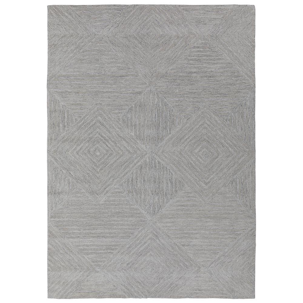 Ottomanson Hampton Collection Beige 5 ft. X 7 ft. Geometric Diamond Mosaic Design Area Rug