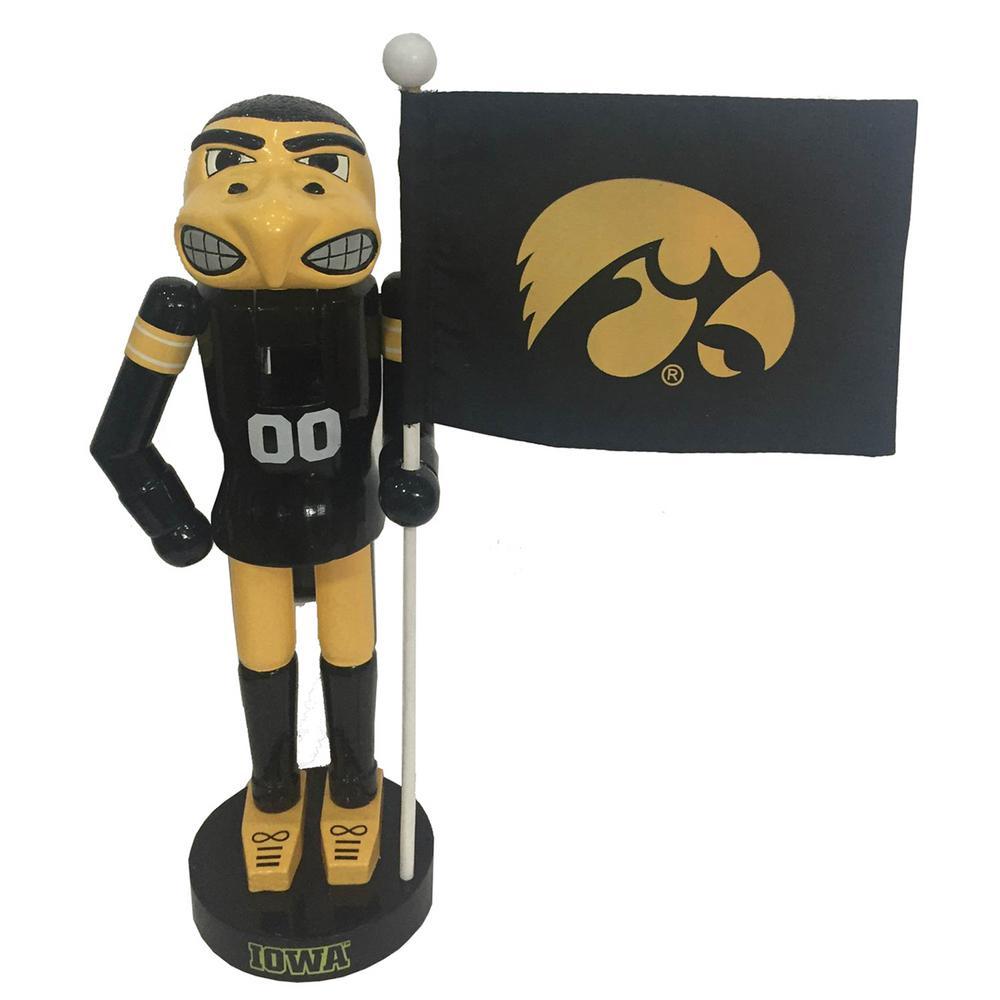 12 in. Iowa Mascot with Flag NC