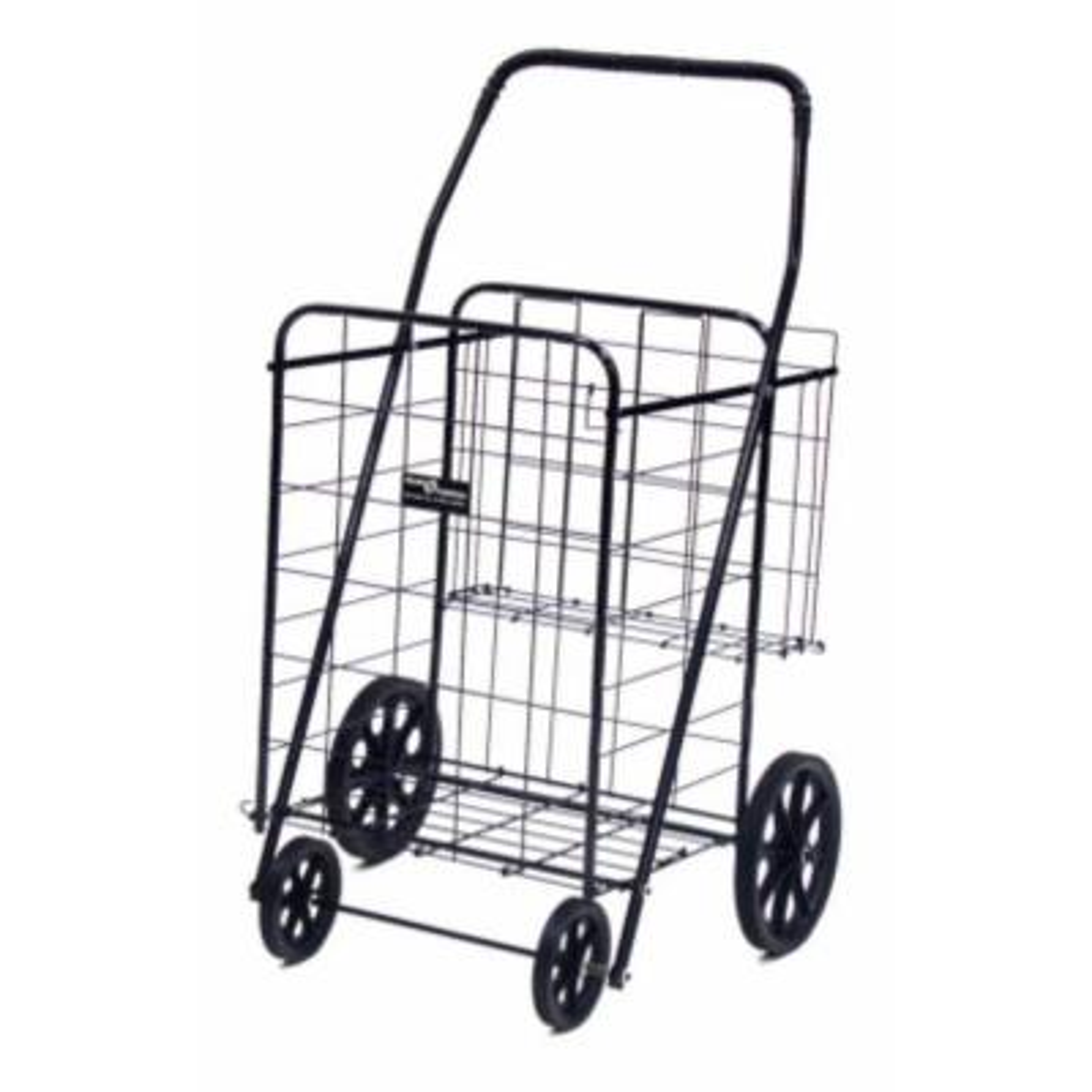 Jumbo Plus Shopping Cart in Black