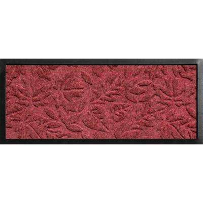 Aqua Shield Boot Tray Fall Day Red/Black 15 in. x 36 in. Door Mat
