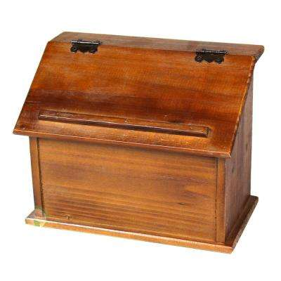 8 in. W x 4.7 in. D x 7.2 in. H Wooden Old Style Podium Recipe Box