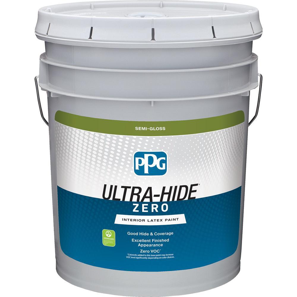 Ordinaire PPG Ultra Hide Zero 5 Gal. Pure White/Base 1 Semi Gloss