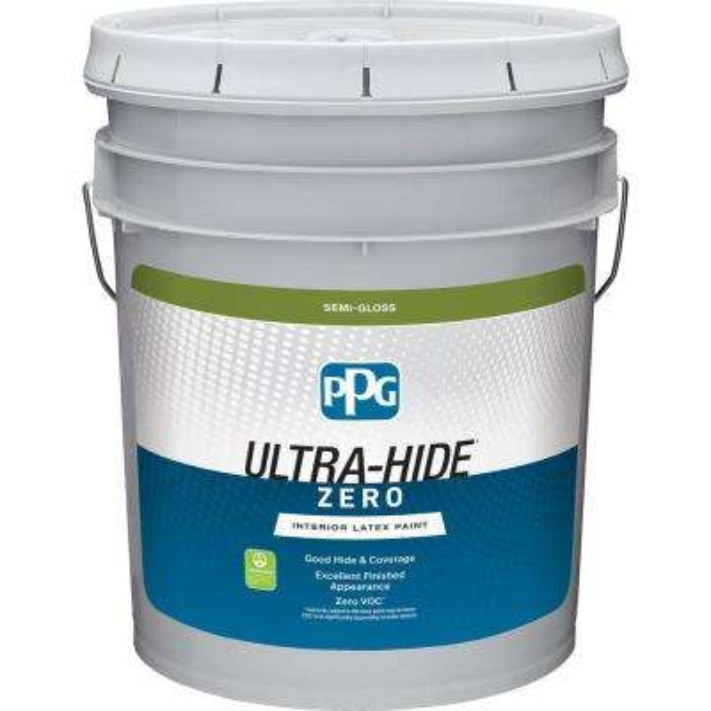 Ultra Hide Zero 5 Gal Pure White Base 1 Semi Gloss Interior
