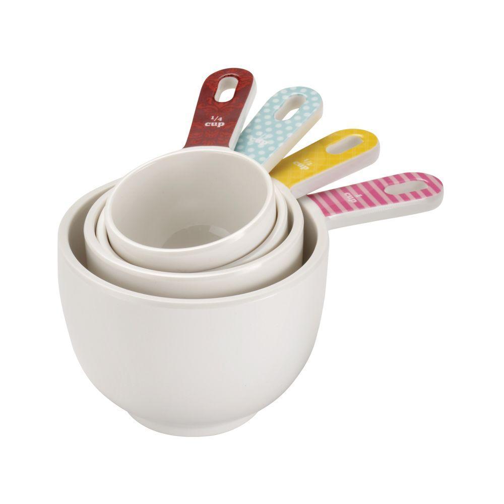 Countertop Accessories 4-Piece Melamine Measuring Cup Set