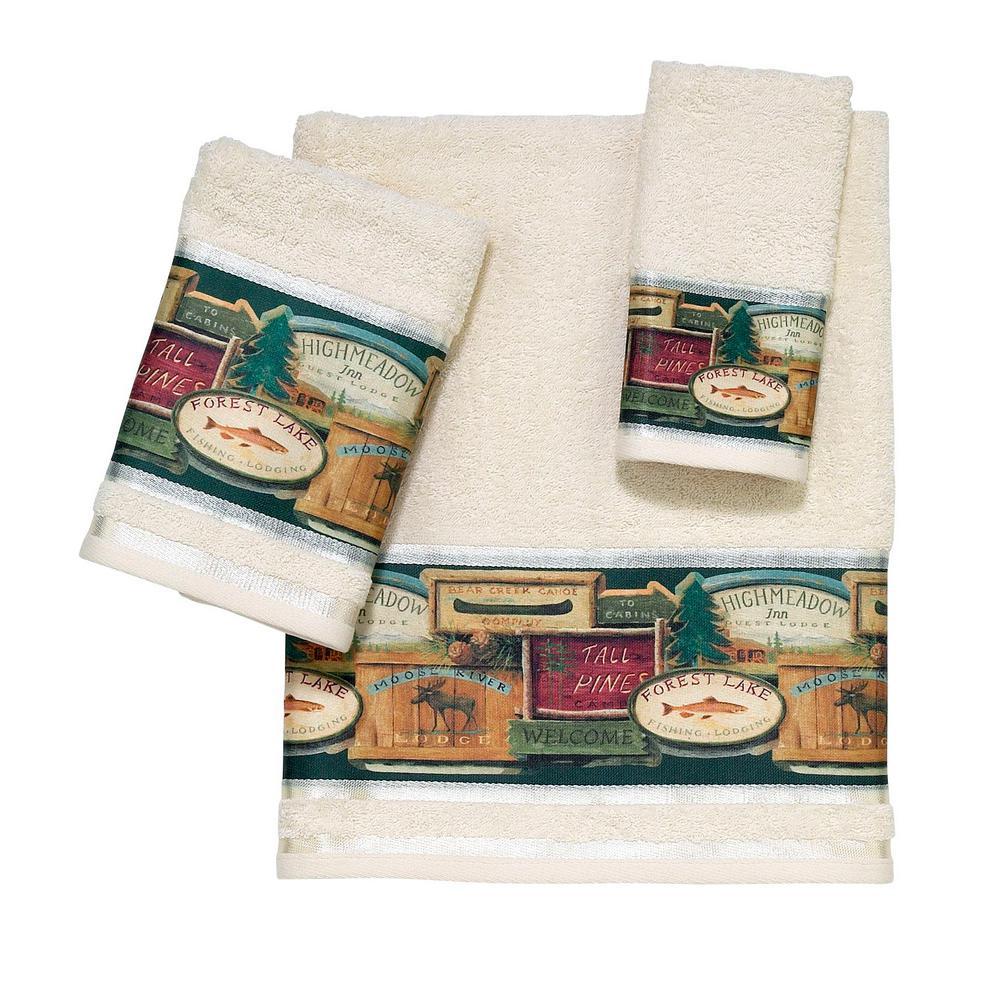 Avanti Linens Rather Be Fishing 3 Piece Bath Towel Set In