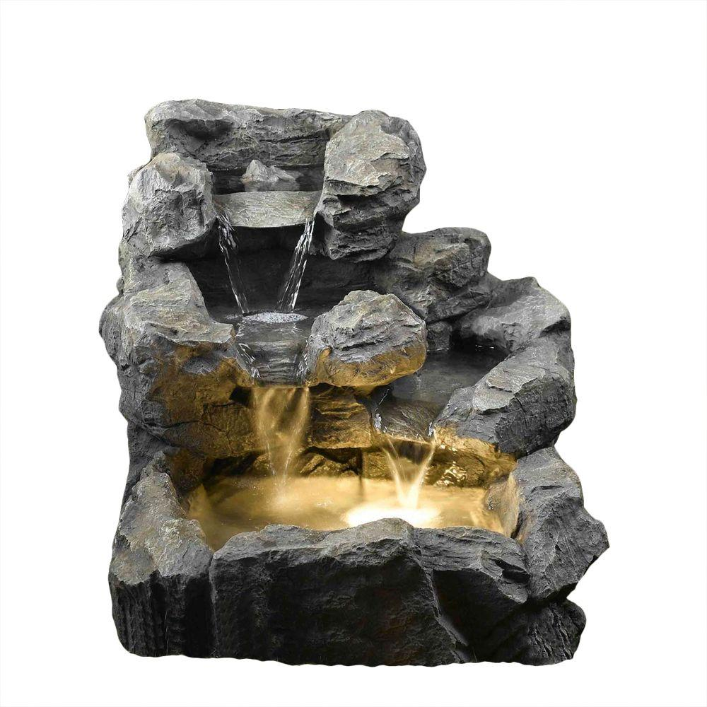 Rock Water Fountains: Rock Creek Cascading Outdoor/Indoor Fountain With