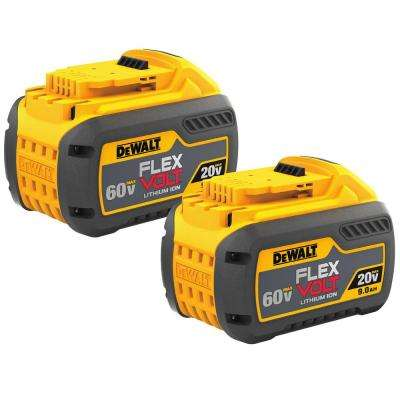 FLEXVOLT 20-Volt/60-Volt MAX Lithium-Ion Battery Pack 9.0Ah (2-Pack)