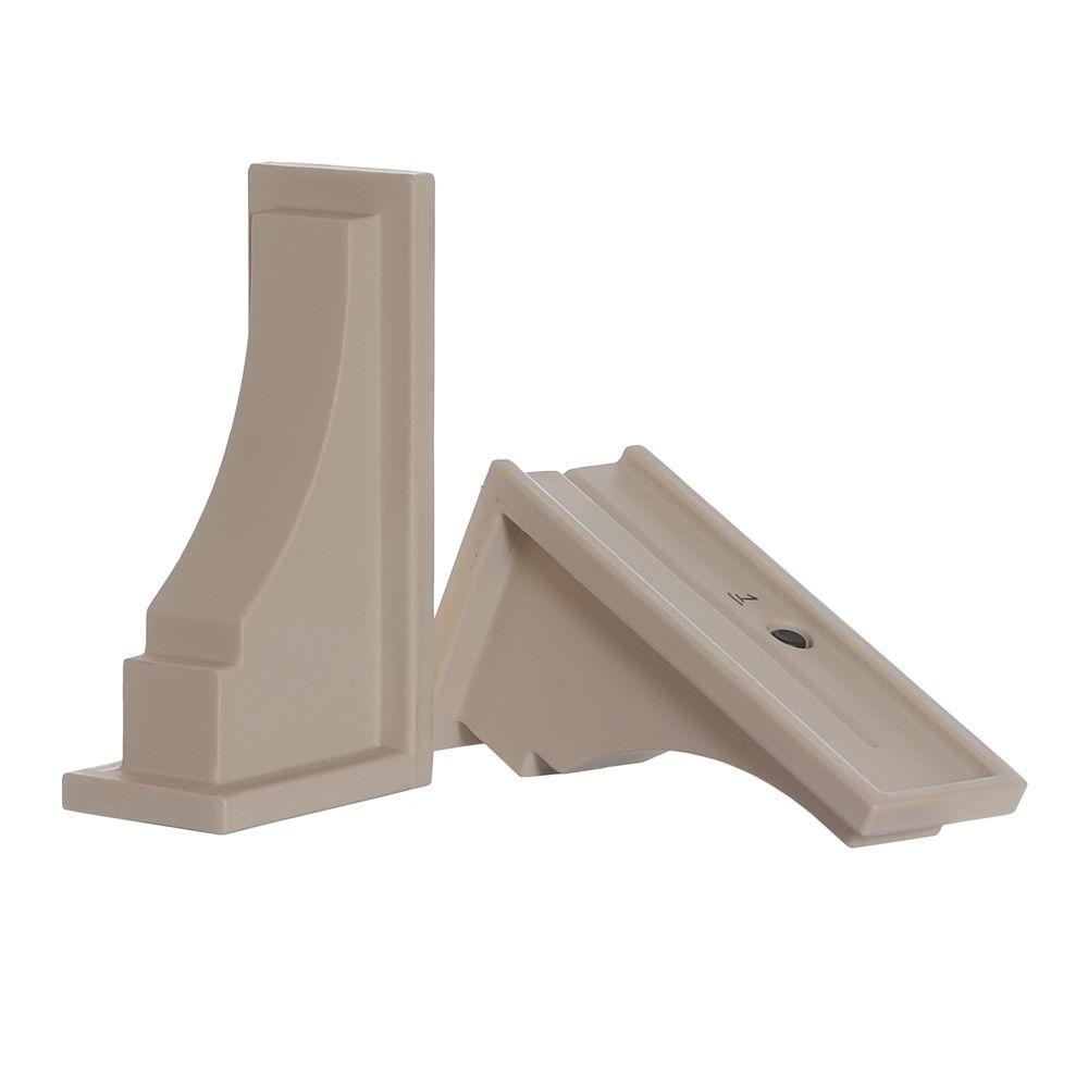 Fairfield Decorative Brackets in Clay (2-Pack)