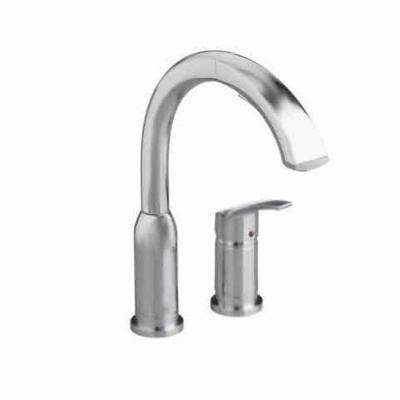 Arch Single-Handle Pull-Out Sprayer Kitchen Faucet in Stainless Steel