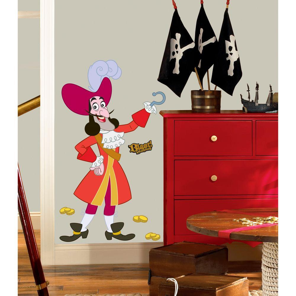 RoomMates Jake and the Neverland Captain Hook Giant Peel and Stick ...