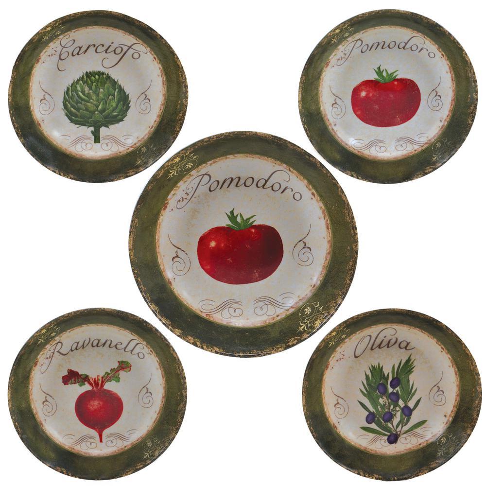 Certified International Pomodoro Salad and Pasta Set (5-Piece Set)
