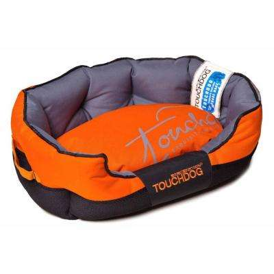 Large Sunkist Orange and Black Bed