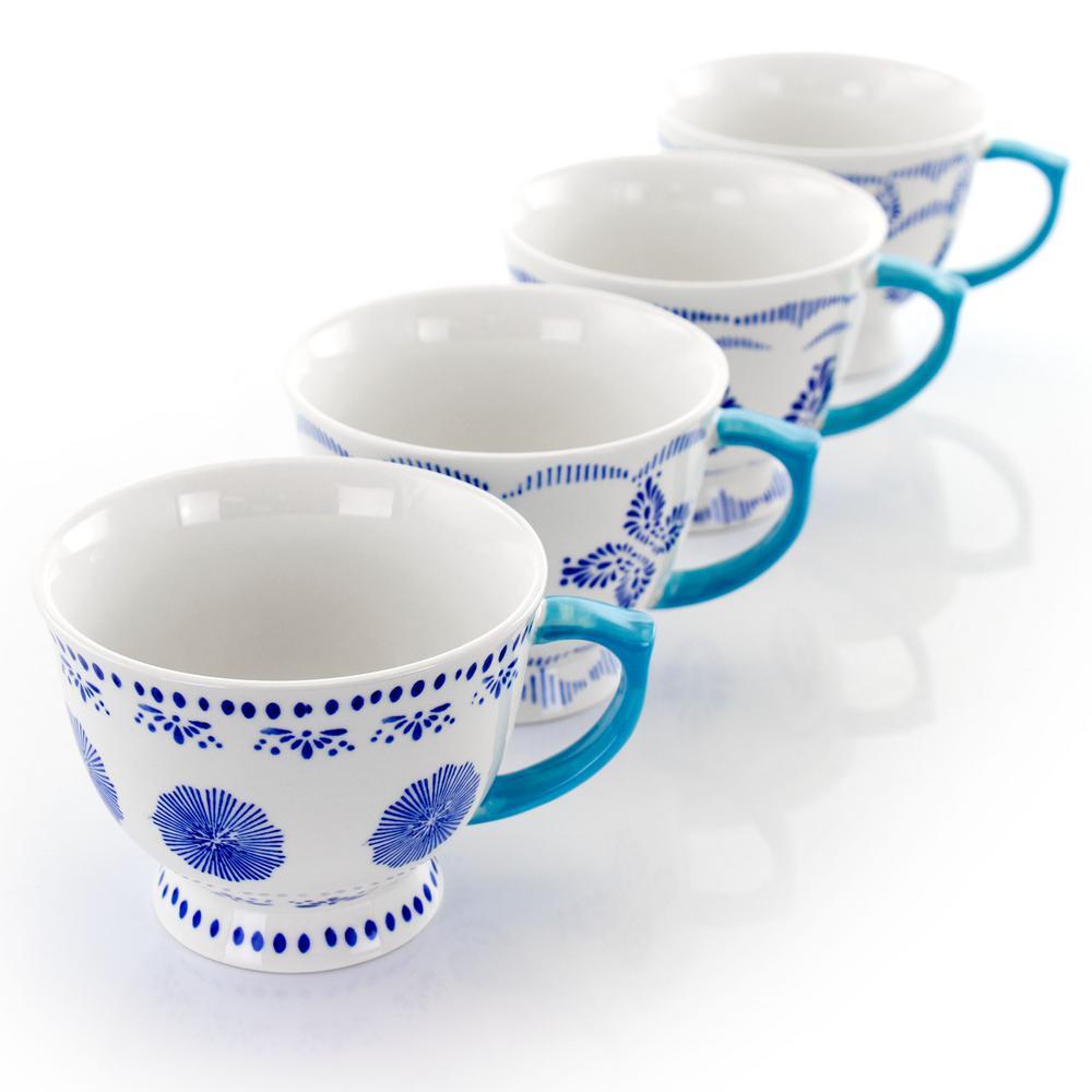 16 oz. Blue Stoneware Mug (Set of 4)
