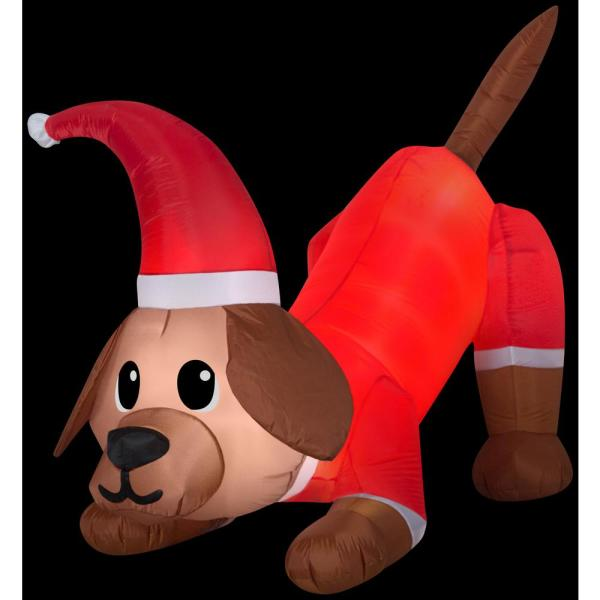 4.5 ft. H Inflatable Animated Airblown-Tail Wagging Lab