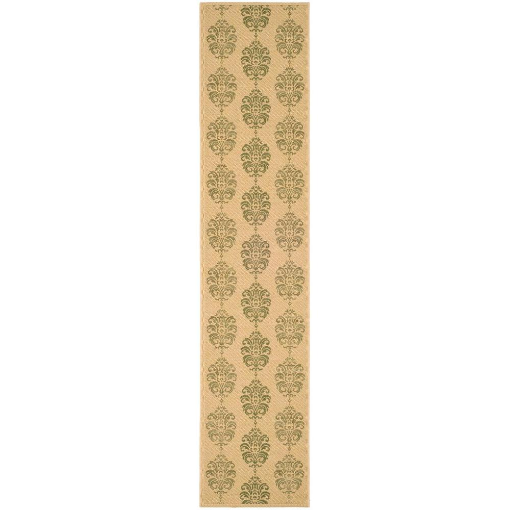 Safavieh Courtyard Natural/Olive 2 ft. 3 in. x 10 ft. Indoor ...