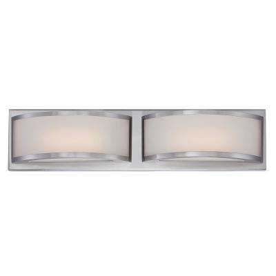 Duranna 20.5 in. Brushed Nickel Integrated LED Sconce