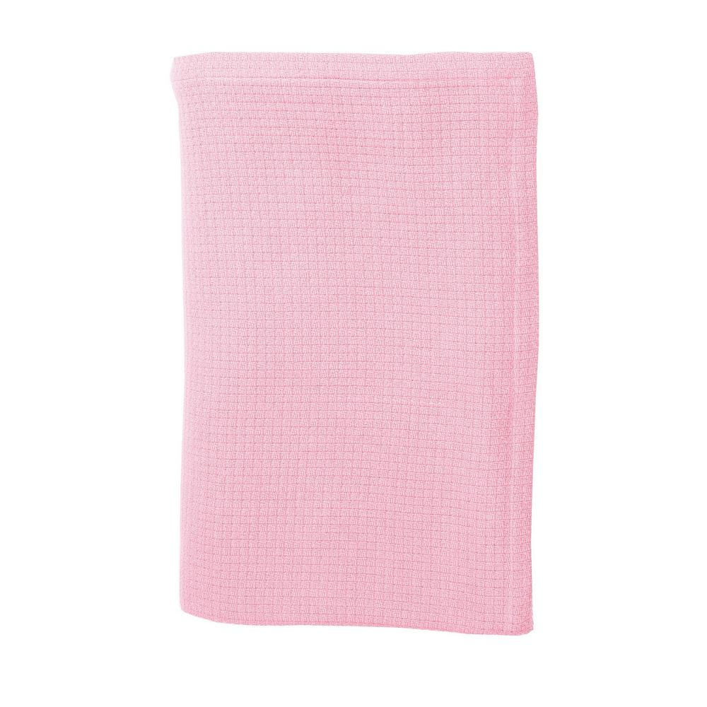 Cotton Weave Petal Pink Queen Blanket