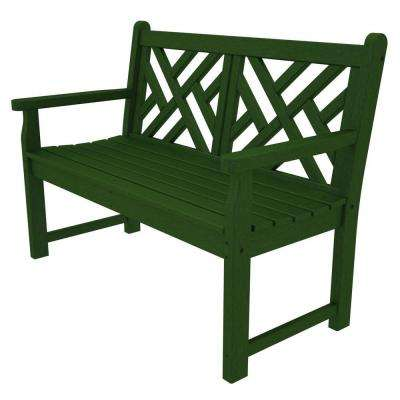 Chippendale 48 in. Green Patio Bench