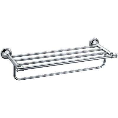 AB9583 23.63 in. Wall Mount Towel Rack in Brass