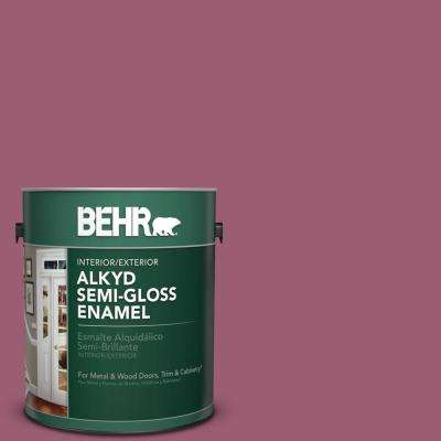 1 gal. #M130-6 Tropical Hibiscus Semi-Gloss Enamel Alkyd Interior/Exterior Paint