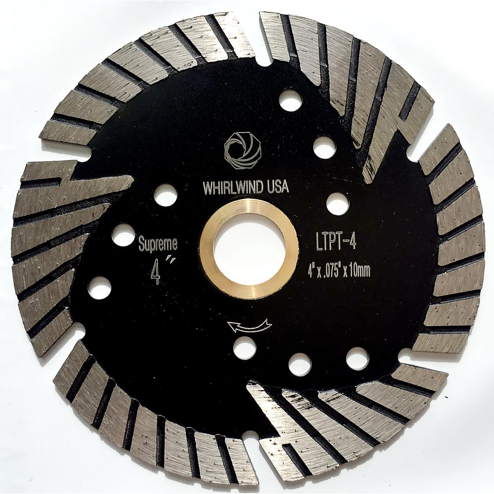4 in. Turbo 6-Teeth Segmented Diamond Saw Blade Granite Marble Concrete