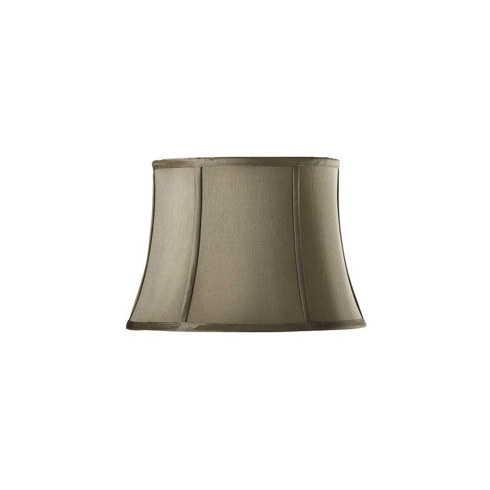 Home Decorators Collection Tapered Small 14 in. Grey Silk Blend Shade