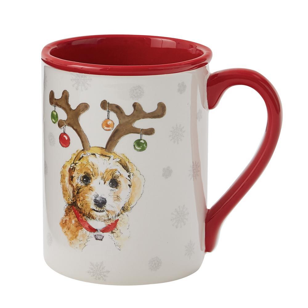 Holiday Paws Multicolor Ceramic Coffee Mug (Set of 4)