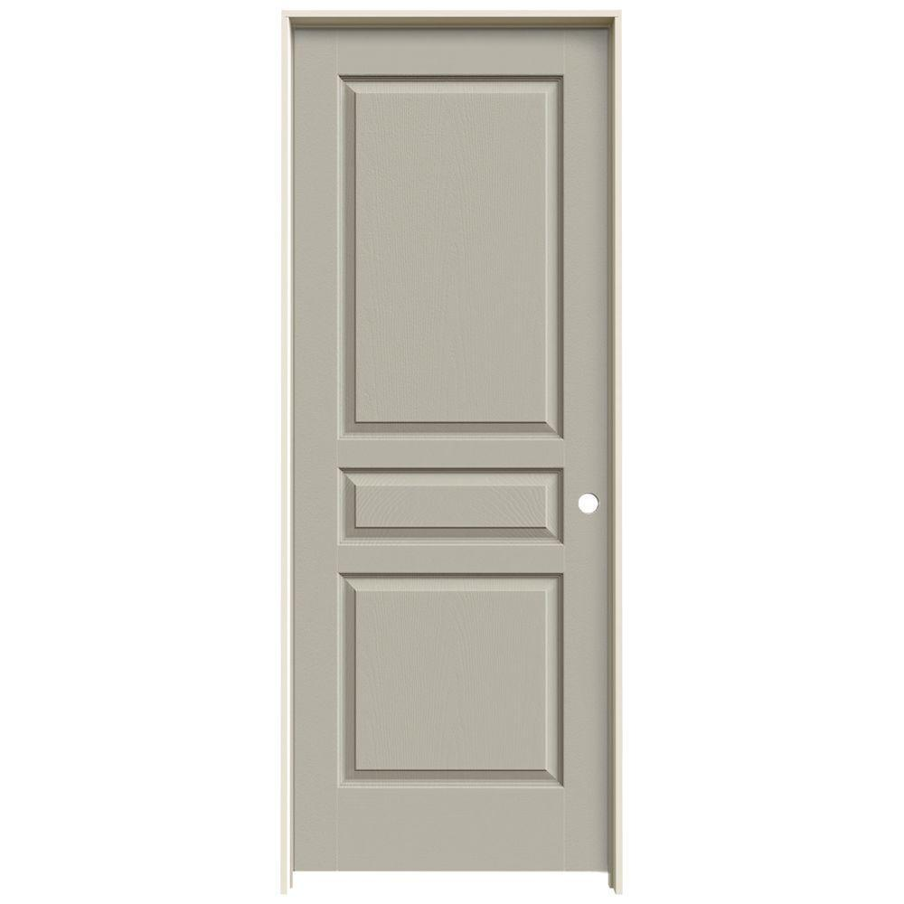 Jeld Wen 30 In X 80 Avalon Desert Sand Left Hand Textured Hollow Core Molded Composite Mdf Single Prehung Interior Door