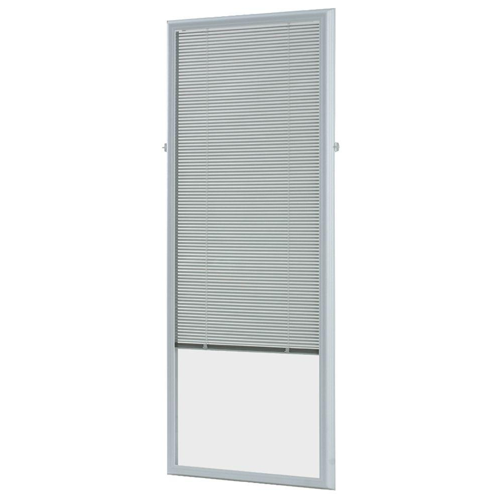 ODL 22 in. w x 64 in. h Add-On Enclosed Aluminum Blinds White Steel & Fiberglass Doors with Raised Frame Around Glass