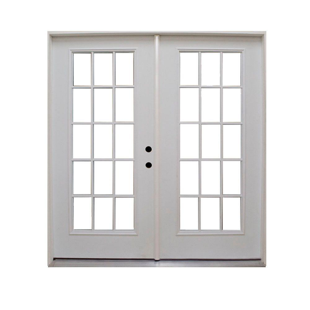 Steves sons 72 in x 80 in retrofit prehung left hand for Home depot prehung french doors