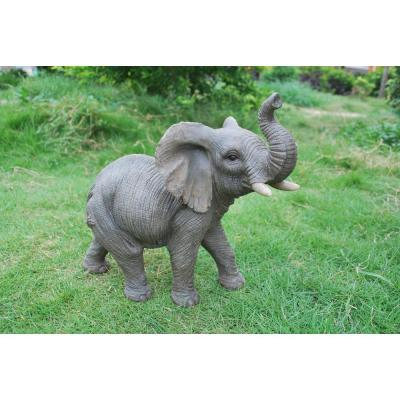 Grey Elephant With Trunk Up