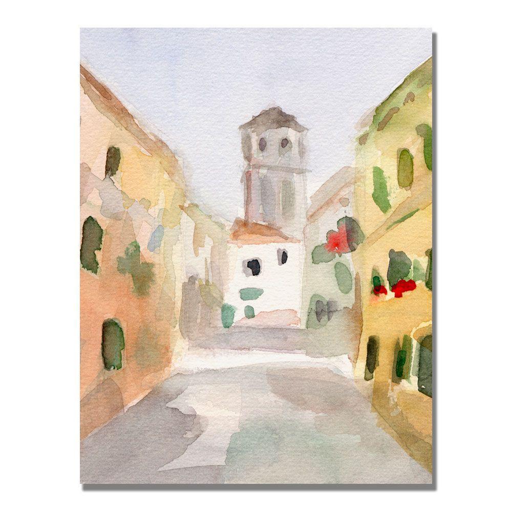 Trademark Fine Art 35 in. x 47 in. Geraniums Cannaregio Venice Canvas Art-DISCONTINUED