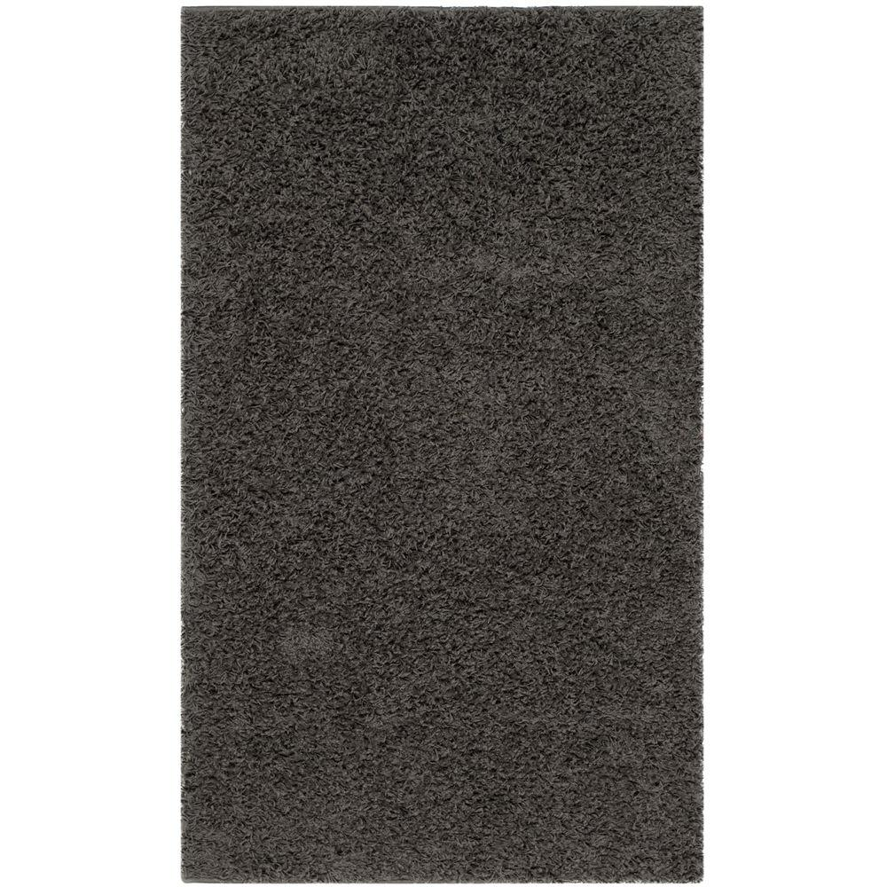 Athens Shag Dark Gray 3 ft. x 5 ft. Area Rug