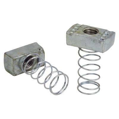 3/8 in. Steel Channel Spring Nut (Case of 10/5-Pack)