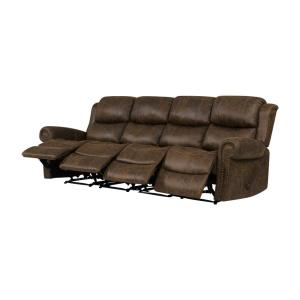 Awesome Prolounger Distressed Saddle Brown Faux Leather 4 Seat Short Links Chair Design For Home Short Linksinfo