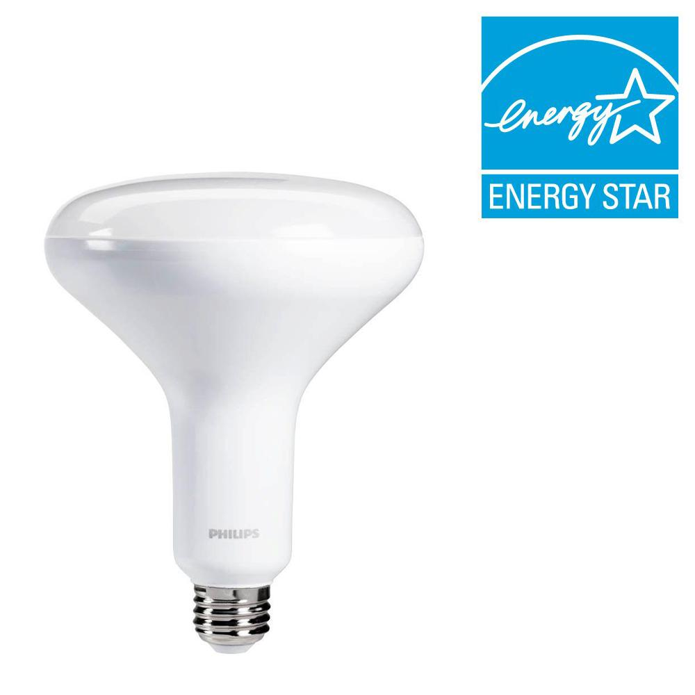 philips 65 watt equivalent br40 dimmable led energy star flood e daylight 459826 the home depot. Black Bedroom Furniture Sets. Home Design Ideas