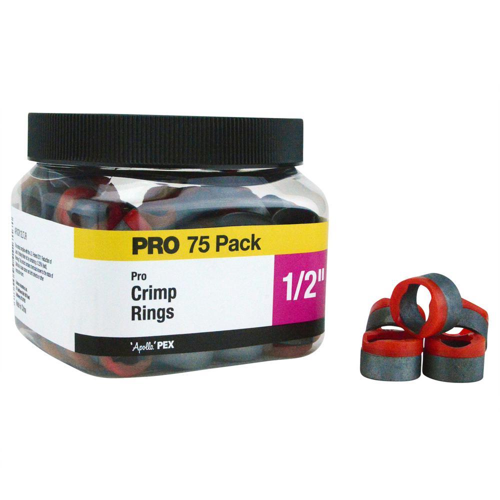 1/2 in. Copper Pro Crimp Ring Pro Pack (75-Pack)
