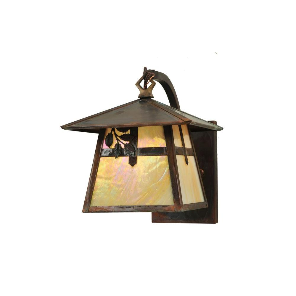 Illumine 1 Light Curved Arm Wall Sconce Vintage Copper Finish