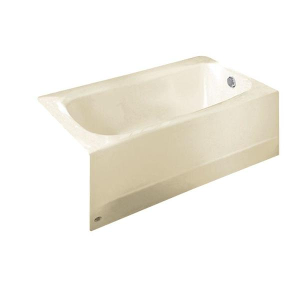 Cambridge 5 ft. x 32 in. Right Drain Soaking Bathtub in Linen