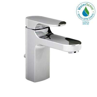 Moments Single Hole Single Handle Low-Arc Bathroom Faucet with Metal Speed Connect Drain in Polished Chrome