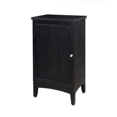 Kent 19 in. W x 33 in. H x 14 in. D Bathroom Linen Storage Cabinet in Brown Ebony