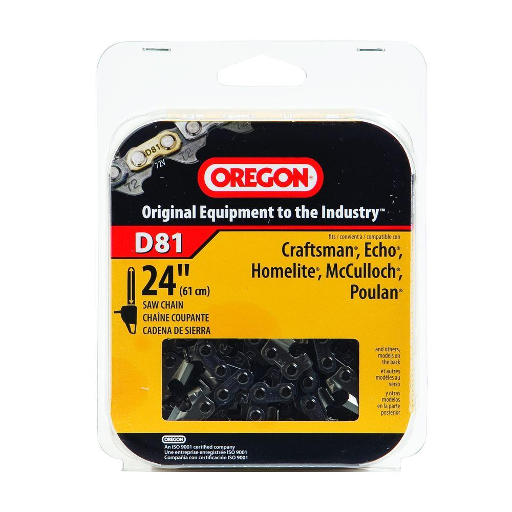 Oregon 24 in chainsaw chain d81 the home depot chainsaw chain d81 the home depot greentooth Image collections