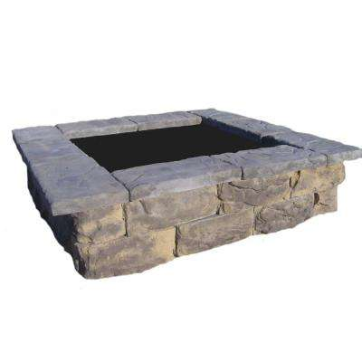 60 in. Fossill Limestone Square Concrete Planter