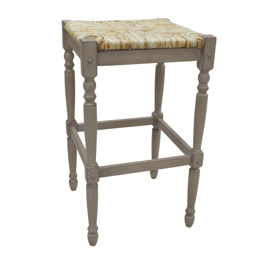 Carolina Cottage Hawthorne 29 In Weathered Gray Bar Stool