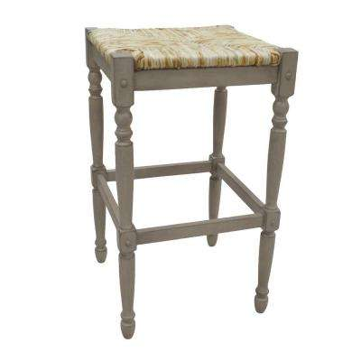 Hawthorne 29 in. Weathered Gray Bar Stool