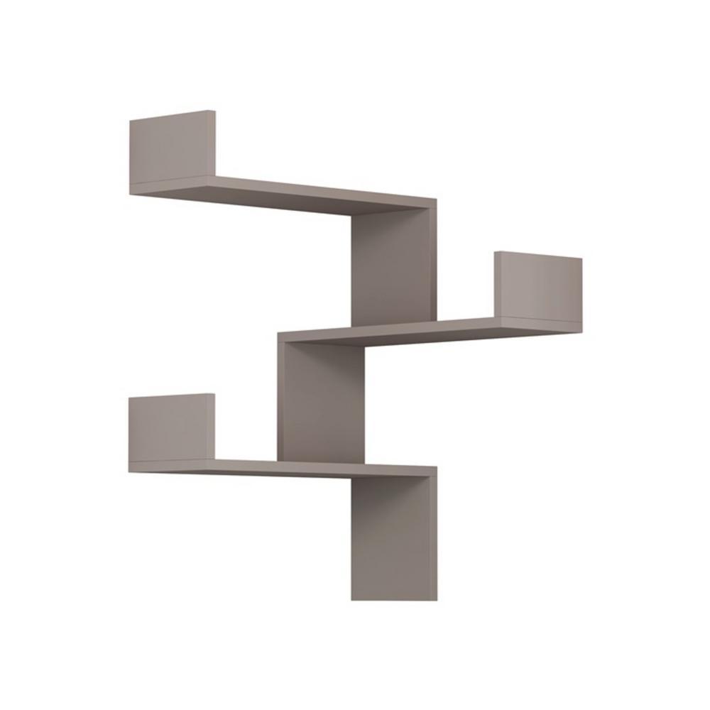 Contemporary Wall Shelves Decorative: Ada Home Decor Walker Light Mocha Mid-Century Modern Wall