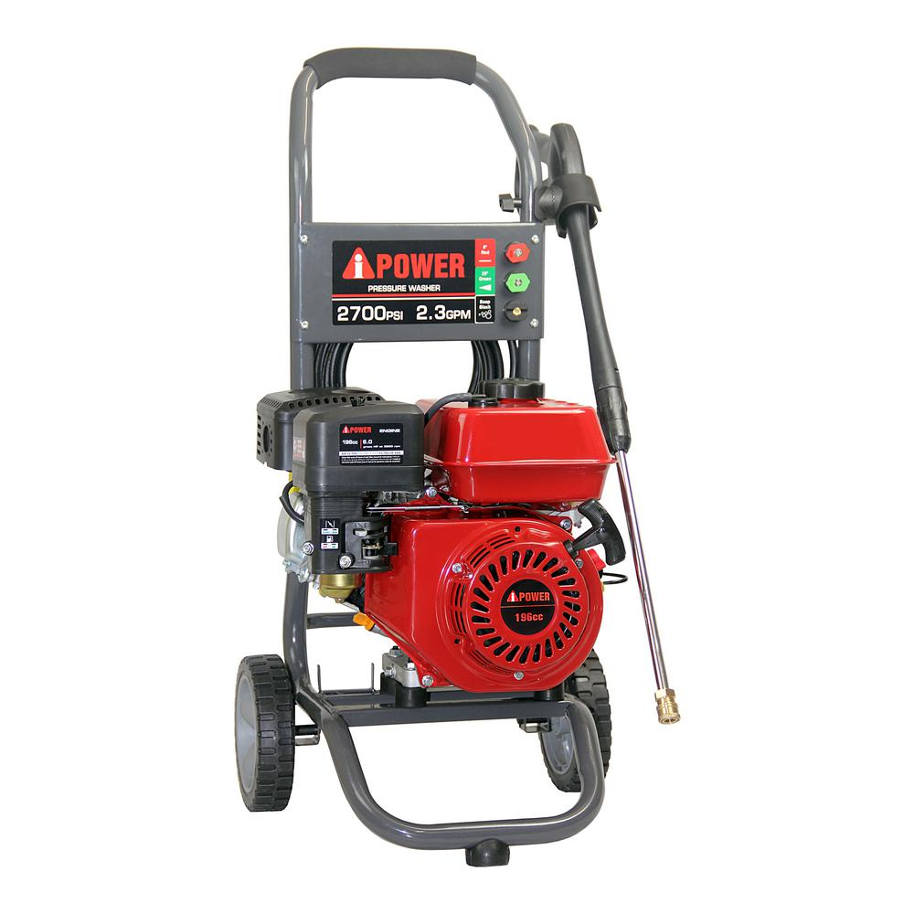 a ipower 2700 psi 2 3 gpm gas pressure washer apw2700 the home depot