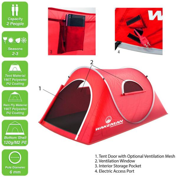 Shower /& Changing Tent Wakeman Portable Pop Up Pod Instant Privacy Beach /& Rain with Carry Bag Outdoors Collapsible Outdoor Shelter for Camping