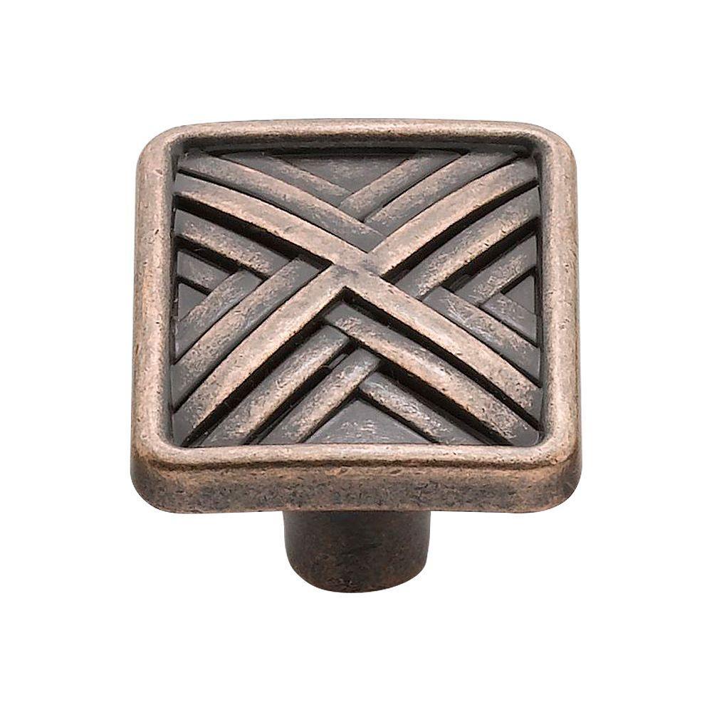 1.5 in. Venetian Bronze Hard Cross Knob