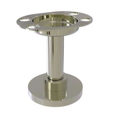 Vanity Top Tumbler and Toothbrush Holder in Polished Nickel